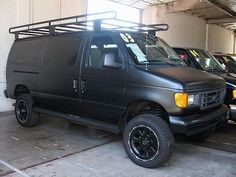 Up For Sale Is This Custom Black 1993 Ford E 250 Cargo Van With A