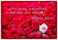 """Matthew 22:14...""""Many are invited, few are called."""
