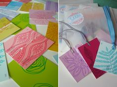 Gift tags from paint chips | @artbarblog
