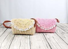 4 Color Summer Lady Handmade Shoulder Bag Straw Beach Bag Crossbody Bag Handbag