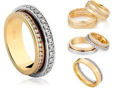 Alianças de Casamento Vivara | Wedding Bands |  http://blogdamariafernanda.com/aliancas-de-casamento