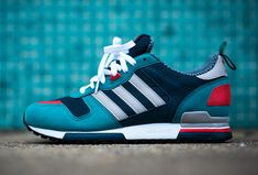 """The adidas ZX 700 """"Sea Water"""" is a very wavy new release. Adidas Zx 700, Adidas Mode, Tennis Fashion, Adidas Fashion, Sneakers Fashion, Fashion Shoes, Fashion Fashion, Women's Shoes, Nike Shoes"""