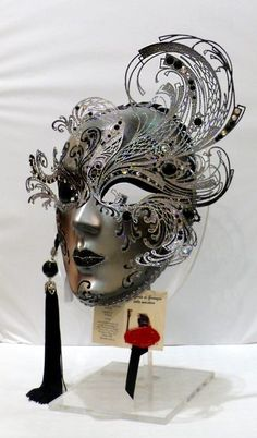 """Riccio"" Paper and metal mask. #masks #venetianmasks #masquerade http://www.pinterest.com/TheHitman14/artwork-venetian-masks-%2B/"