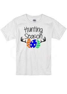 54291be98 Egg hunting season Toddler Shirt, Easter Shirt for Toddler, Easter  Clothing, Funny Easter