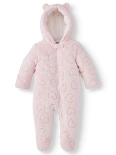 Shop for Cold Weather Clothing & Accessories in Seasonal Clothing Shops. Buy products such as Women's Retro Stripe Bomber Down Jacket at Walmart and save. Winter Baby Clothes, Baby Kids Clothes, Baby Snowsuit, Stylish Winter Outfits, Baby Shop Online, Bear Ears, Girls Fleece, Cold Weather Outfits, Snow Suit