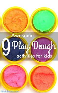 The Inspired Treehouse - 9 ideas for fine motor fun with play dough that target strength, coordination and manipulation skills.