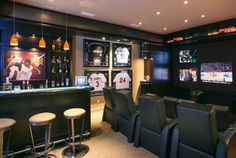 The Mancave. Custom framing can bring much needed attention to your favorite jerseys or celebrated autographs.  ------------ #home #decor #mancave #custom #framing #picture #frames #ideas #help #tips #suggestions