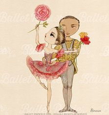 Ballet Papier-ballet drawings Sleeping Beauty -for dance lovers