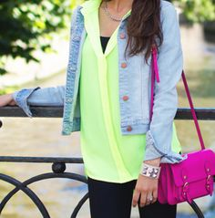 Denim, neon, LAYERS. All must haves for your 2014 spring family photo session! Trendy, but not too over the top.