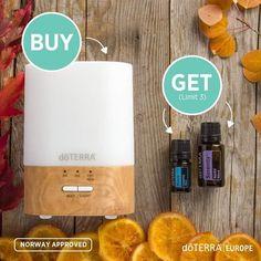 ** BOGO 25 Oktober ** Zonder diffuser kun je de heerlijke geuren van diverse oliën niet verspreiden. Dit is JOUW kans !!! Koop DE Lumo diffuser voor € 77,45 (inkoop) en ontvang een 5 ml. Peace en een 15 ml. Serenity cadeau t.w.v.  € 81,07! Toepassing Verdamp in een diffuser. Doe 1 druppel in de palm van je handen en inhaleer diep. Gebruik het onder je voetzolen, in je nek of de rug, over het hart of op reflexpunten. Doe 2 a 3 druppels in een warm bad met badzout  Info op Www.mikor-oil.nl Doterra Serenity, Mists, Norway, Palm, Diep, Stuff To Buy, Instagram, Shopping