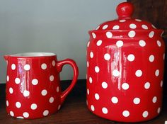 Dotty sugar and creamer