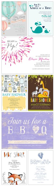 The sweetest and most affordable Baby Shower Invites. Customized with your wording and colors + shipped in a snap.
