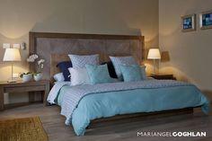 Recámara : Dormitorios de estilo moderno de MARIANGEL COGHLAN