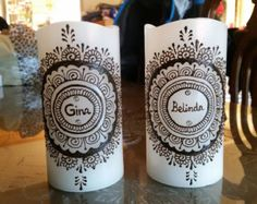 Henna candle by JSHennaCreations on Etsy