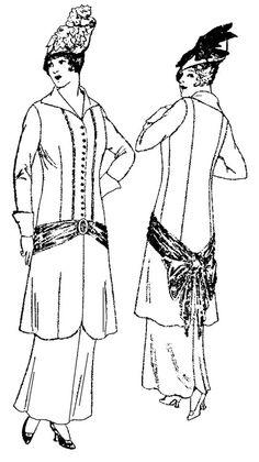 Past Patterns: #5830: Fancy Suit: Circa 1915-1917