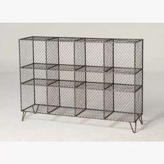 Vintage wire mesh storage unit