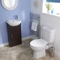 Ebony Sienna Cloakroom Suite - BestBathrooms.com
