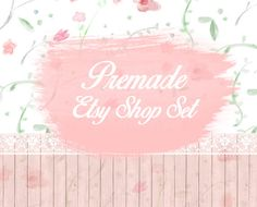 Etsy Banner Set Etsy shop set Watercolor by LemonTreeDigital