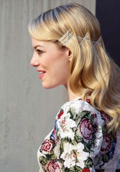 Visible hairpin 'look' as seen on Emma Stone