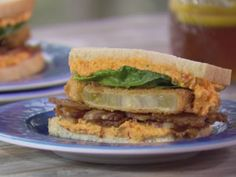 Bacon, Jalapeno Pimiento Cheese and Fried Green Tomato Sandwich