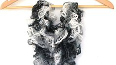 Black & White lace scarf necklace scarf by BestOffersBoutique