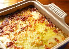 Potato Gratin with Caramelized Onions & Prosciutto