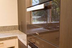 Miele appliances in Havanna Brown. Contemporary kitchen. www.thekitchendesigncentre.com.au