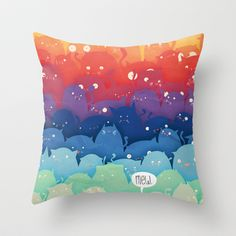 Cats Galore!  Throw Pillow by Scott Ulliman - $20.00