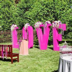 Letras para bodas XXL con flores