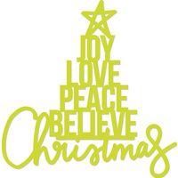 Kaisercraft Die Words Christmas Word Tree DD778 FREE SHIPPING