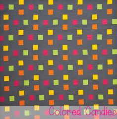Colored Candies - A Modern One-Block Quilt