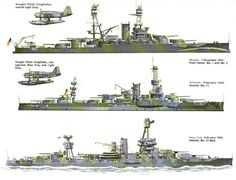 Modernised US dreadnought era battleships, early Military Weapons, Military Art, Military History, Military Diorama, Uss Houston, Pearl Harbour Attack, Uss Texas, Us Battleships, Military Drawings