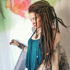 Beautiful dreads by Thank you for dreadlocks ================================ Tag me on last your photo for feature🌚 Or… Extension Dreadlocks, Dreadlock Extensions, Dreadlocks Girl, Dreadlock Rasta, Dreads Styles, Dreadlock Hairstyles, Cool Hairstyles, Black Hairstyles, Wedding Hairstyles