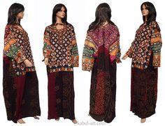 antique Pakistan Silk Embroidered Woman's Dress Sindh Mid 20th century XXl size No:3