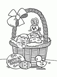 73 Best Easter Coloring Pages Images On Pinterest Coloring Pages