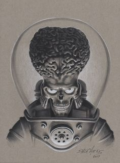 Martian in clear helmet. Probably charcole and chalk on grey toothed paper. Aliens, Pencil Sketch Images, Graffiti Alphabet Styles, Graffiti Images, Alien Drawings, Mars Attacks, Fantasy Concept Art, Science Fiction Art, Weird Art