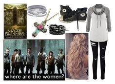 """the Maze Runner o.c"" by nightgirl109 ❤ liked on Polyvore featuring Miss Selfridge, maurices, Converse, Sweet Romance and Witchery"