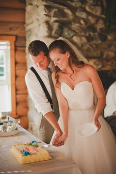 Mariella and Kyle's reception in the dining room of their log cabin. See their beautiful photos by Adrien Craven here.. @intimateweddings.com #reception #realweddings