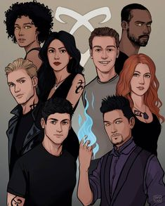 A while back I made this drawing of the Shadowhunter cast for who got it signed by the cast! Clary Et Jace, Shadowhunters Clary And Jace, Shadowhunters Series, Jace Lightwood, Isabelle Lightwood, Shadowhunters The Mortal Instruments, Clary Fray, The Mortal Instruments Cast, Cassandra Clare Books