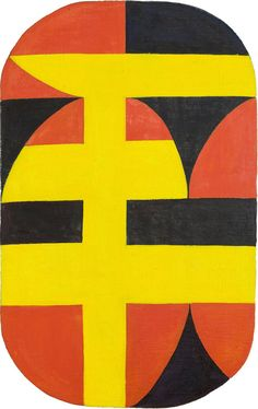 Carmen Herrera (b. 1915), Siete, 1949. Acrylic on canvas, 46 × 30 in. (116.8 × 76.2 cm). Collection of Paul and Trudy Cejas © Carmen Herrera