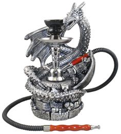 A small hookah clocks in between 10 and 14 inches in height, from the hookah vase to the top of the bowl. Description from hookahshisha.org. I searched for this on bing.com/images