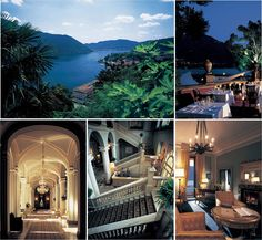Villa d'Este in Italy, overlooking Como Lake