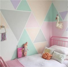 Girls bedroom wall paint ideas girl room colors ideas gallery of girls room paint ideas teenage Kids Bedroom Paint, Girls Room Paint, Bedroom Paint Colors, Bedroom Decor, Boys Room Paint Ideas, Wall Decor, Bedroom For Kids, Playroom Paint Colors, Girls Bedroom Colors