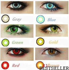 usa stock candyvision 7 colors in stock crazy lenses colorful cosmetic contact lenses eye color blood red eye freeshipping
