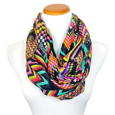 Infinity Scarf for Her - Multiple Colors & Patterns - Top Quality Mustard & Black One Size Clothing Hacks, Top Pattern, Scarf Styles, Color Patterns, Fashion Brands, Infinity, Topshop, Stuff To Buy, Colors