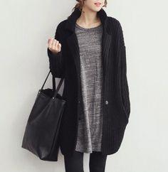Womens Knit Cardigan Mid Length