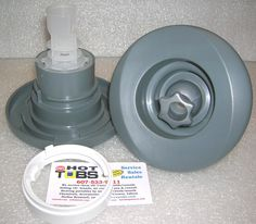 5 1/4 inch face diameter, stands 4 7/8 inch tall. Used from Early 2000s and up, notice backside design is different after 2007. Previous version had two small tabs that broke off, allowing jet to discharge from tub. If you have 2006 and OLDER, you will need to glue in adapter ring first (shown) to accept new style jet.