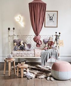 Talk about styling! My heart skipped a few thousand beats when I saw this amazing space styled by one of my favourites Aimee Knop for NanaHuchy! You guys rocked \'everything\'! [Thanks for using a collection of our products in this whimsical space] ♡ #hellolittlebirdiestore #hellolittlebirdie #collaboration #aimeestylist #nanahuchy #newcollection #vintage #numero74 #canopy #heartlight #prints #kidsroom #kidsdecor #kidsinteriors #theseguysrockedit