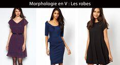 La morphologie en V (ou pyramide inversée) est l'inverse de la morphologie en A. La femme en V a une silhouette sportive et féminine.