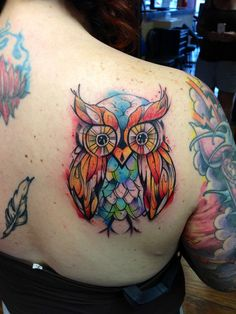 water color tattoo | Watercolor owl tattoo | Addicted...